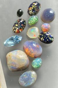 Lot Of Polished Cabochon Opals Gemstones