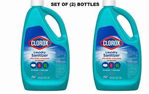 NEW SET of (2) Cloro Fabric Laundry Saniti & Odor Remover (2) 42 oz Bottles