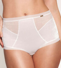 Gossard 6278 GLOSSIES Deep Tummy Control Brief Black Nude White Mocha Shapewear XS White