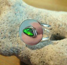 Opal Ring Silber 925 Größe flexibel Doppelband Spirale Designerring neu wow R35