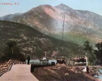 Postcard, Kootney Landing B.C. Hand Tinted River Vintage P03