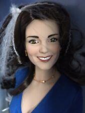 """Franklin Mint Kate Middleton 16"""" Vinyl Doll in Blue Engagement Ensemble Nrfb+Coa"""