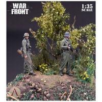 1/35 Resin Figure Model Kit World War II German Normandy 2 figures Unpainted