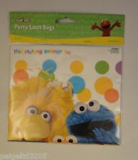 Designware Sesame Street  Big Bird & Cookie Monster Birthday Party Loot Bags, 8
