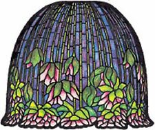 "Worden 18"" Flowering Lotus w/Check Ring & Pattern for Molded Lamp Making L181"