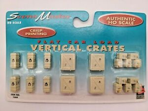 """HO SCALE LIFE-LIKE #1664 """"VERTICAL CRATES"""" FACTORY SEALED"""