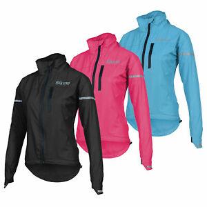 Women Cycling Jacket HOOD Ladies Girls water resistant high viz casual running