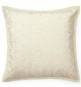 """Ralph Lauren Belle Point Darlene Linen-Blend Throw Pillow 20"""" x 20"""" retail $285"""