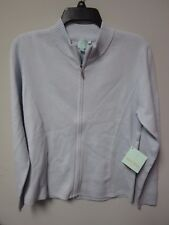 SHU SHU Women's Winter Blue Zipped-Up Sweater Size Medium