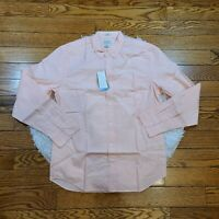 NWT J.Crew Men's Pink Long Slim Fit Button Down Shirt Size Medium M