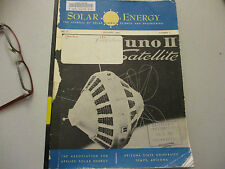 Solar Energy Science & Engineering Swimming Pool Heater engine furnace 1960