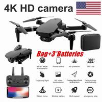 Mini Drone Selfie WIFI FPV Dual 4K HD Camera Foldable Arm RC Quadcopter Xmas Toy