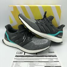 ADIDAS ULTRA BOOST M DARK SOLID GREY SHOCK MINT GREEN WHITE NMD R1 AQ5931 SZ 11