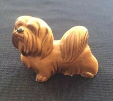 Vintage Glass Poodle Collectible Gold Blonde