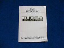 1989 Pontiac Grand Prix Turbo GM Original Service Chassis Manual Supplement