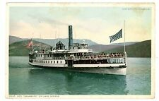 Lake George NY - STEAMER SAGAMORE ON LAKE- Detroit Pub Postcard Adirondacks