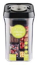 Pioneer Pump Fresh Vacuum Food Storage Pasta Container Canister Jar, Black, 1.0