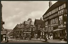 More details for shropshire - shrewsbury - wyle cop - busy high st - vintage real photo postcard