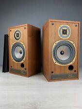 """TANNOY M20 """"Gold"""" Loudspeakers In Natural Walnut Veneer. 99p NR"""