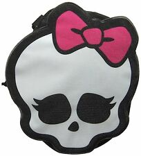 Monster High Zippered Pouch Pencil Skull Skullette Backpack Clip School Black