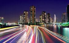 CITY LIGHTS TOKYO NEW A3 CANVAS GICLEE ART PRINT POSTER