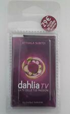 TESSERA DAHLIA TV USO COLLEZIONE RARA.