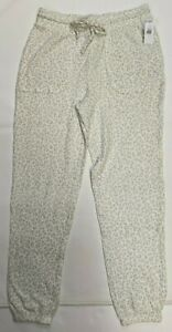 NWT Old Navy Women's Waffle Jogger Snow Leopard Drawstring (Size Small)