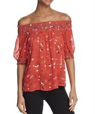 New With Tags JOIE  Red Gualberta Fiesta Floral Silk Blouse Sz M