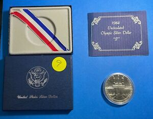 1984 Olympic Silver US Coin - Uncirculated -