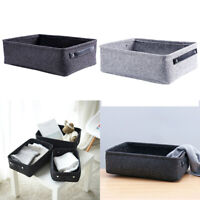 Foldable Box Table Closet Clothes Organizer Felt Storage Basket Sundries Pouch