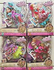 Ever After High Lot of 4 Way to Wonderland Kitty Madeline Lizzie Apple White 6+