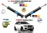 FOR BMW X5 E70 7 SEATER MODELS 2006-2013 2 X REAR SHOCK ABSORBER SHOCKER SET