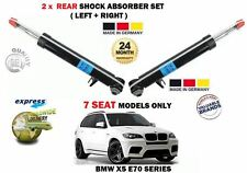 FOR BMW X5 E70 7 SEATER MODELS 2006-2013 2 X REAR SHOCK ABSORBER SHOCKER SET