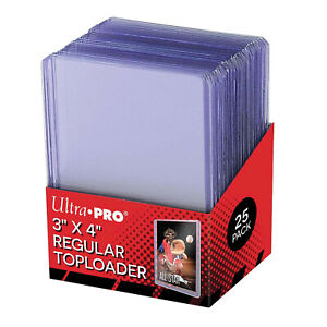 25x Ultra Pro Toploaders CLEAR * POKEMON Card Protector * Top Loader Toploader