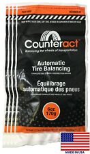 (4 Bags) 6 ounce Counteract Tire Balancing Beads 6 oz. With Valve Core & Cap