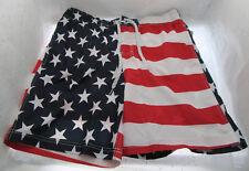 American Flag Swim Trunks 32-34 Patriotic Shorts Stars and Stripes USA