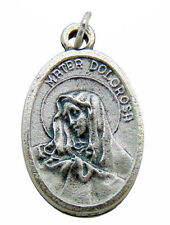 Our Lady of Sorrows (Mater Dolorosa) Mary Medal 3/4 Inch Metal Pendant