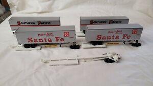 Athearn HO Santa Fe 5 Unit Impack Piggyback Spine Car W/Trailers #298965
