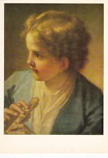 1982 RARE Benedetto Luti A Young Musician boy with flute Russian Soviet postcard