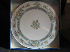 """ROYAL WORCESTER 'MAYFIELD' 11"""" CAKE PLATE & CAKE SLICE SET 1981 MINT & BOXED"""