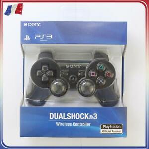 Manette de jeu noir sans fil Bluetooth 6 axes DualShock Pour Sony PlayStation 3