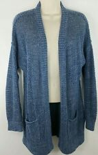 GAP Cardigan Sweater Small Open Front Blue Shirt Loose Knit Top Wrap Cotton