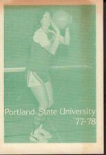 1977-78 Portland State Women's Basketball Schedule jhhp