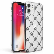 Personalised Luxury Crown Pattern - Clear Slim Tpu Case for iPhone Custom Name