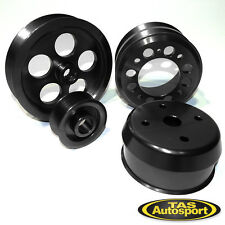 Lightweight 93-95 Mazda RX7 RX-7 1.3L Rotary FD3S Pulley Kit BLACK 4 Piece