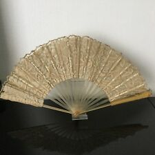 EVENTAIL Ancien Dentelle XIXè Victorian FAN LACE VENTAGLIO