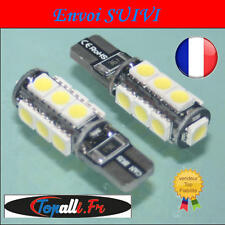 2 x LED 5050 T10 W5W 13 SMD Canbus Anti Erreur ODB Blanc / Vendeur Français !