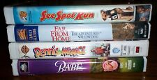 4 FAMILY VHS FAR FROM HOME BABE DENNIS THE MENACE SEE SPOT RUN ADVENTURE COMEDY