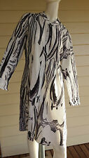 Obi New Zealand Size 14 Duster Coat Black/grey and white