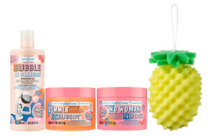 Soap & Glory Call of Fruity Collection Gift Bag Body Scrub Wash Butter & Sponge!